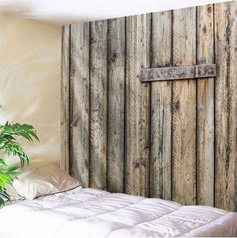 Cheap Wall Art Decor Shabby Wood Grain Door Printed Hanging Tapestry