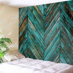 Retro Wooden Board Print Tapestry Wall Hanging Art Decoration -