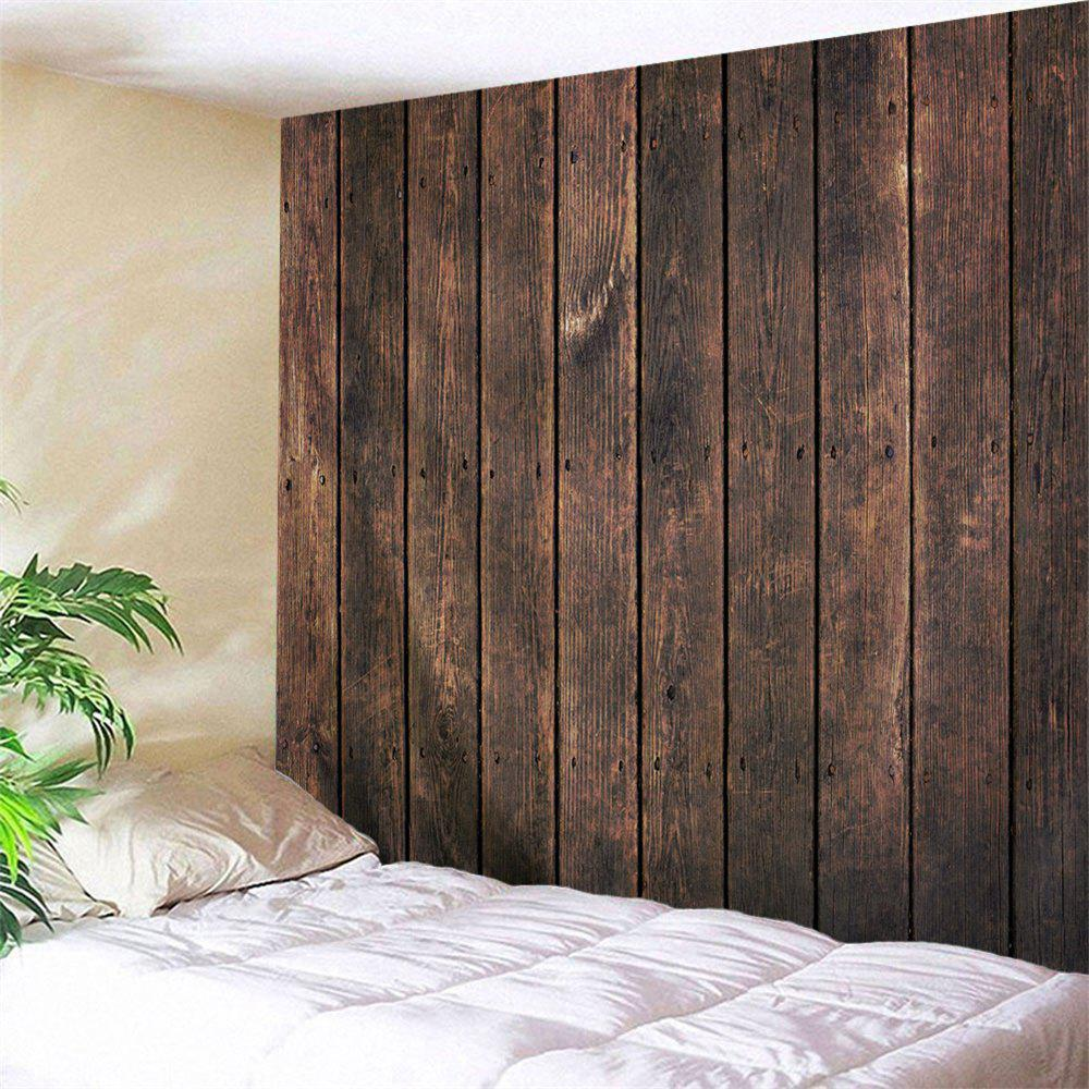 Online Retro Wood Board Printed Wall Art Hanging Tapestry
