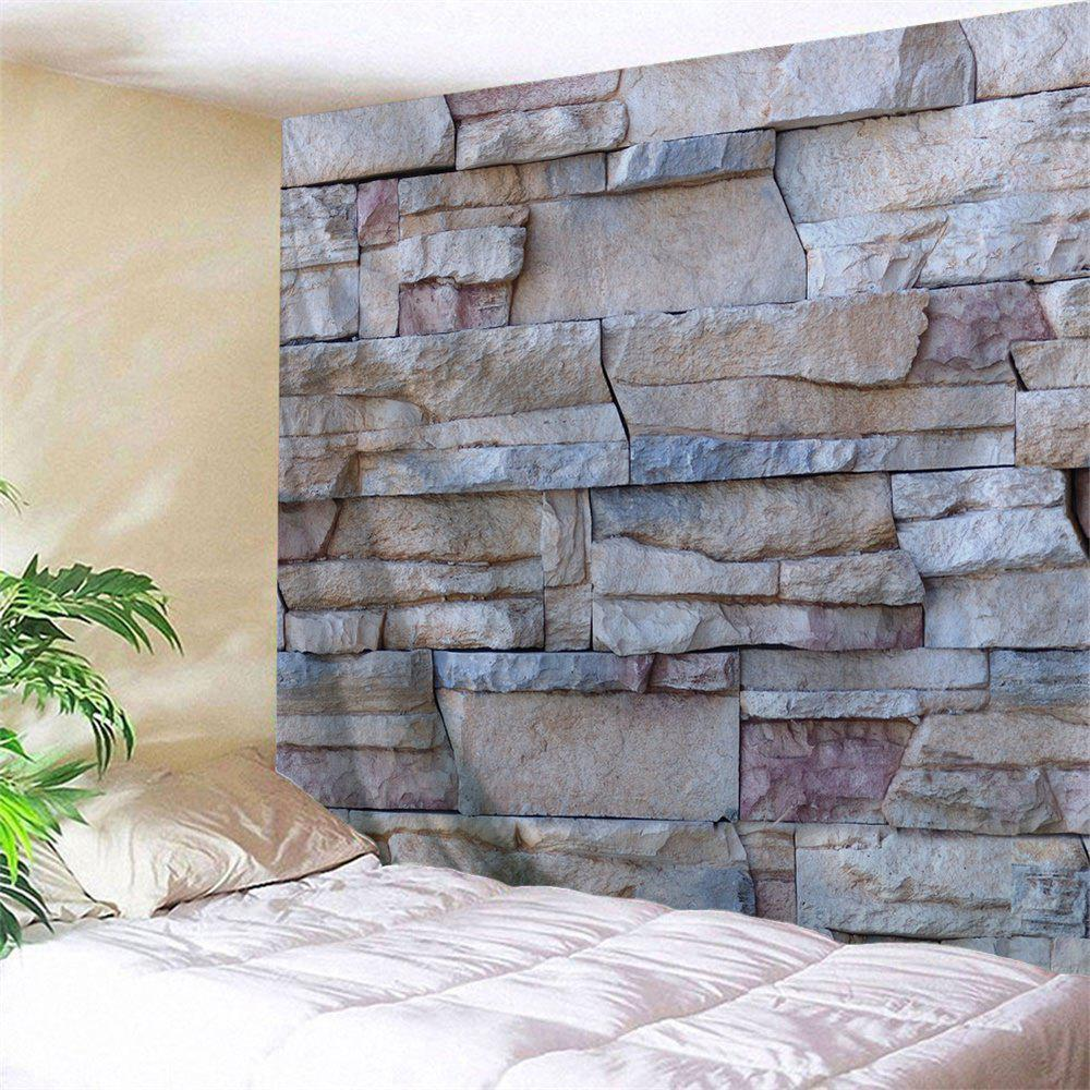 55 Off Stone Brick Wall Print Tapestry Wall Hanging Art