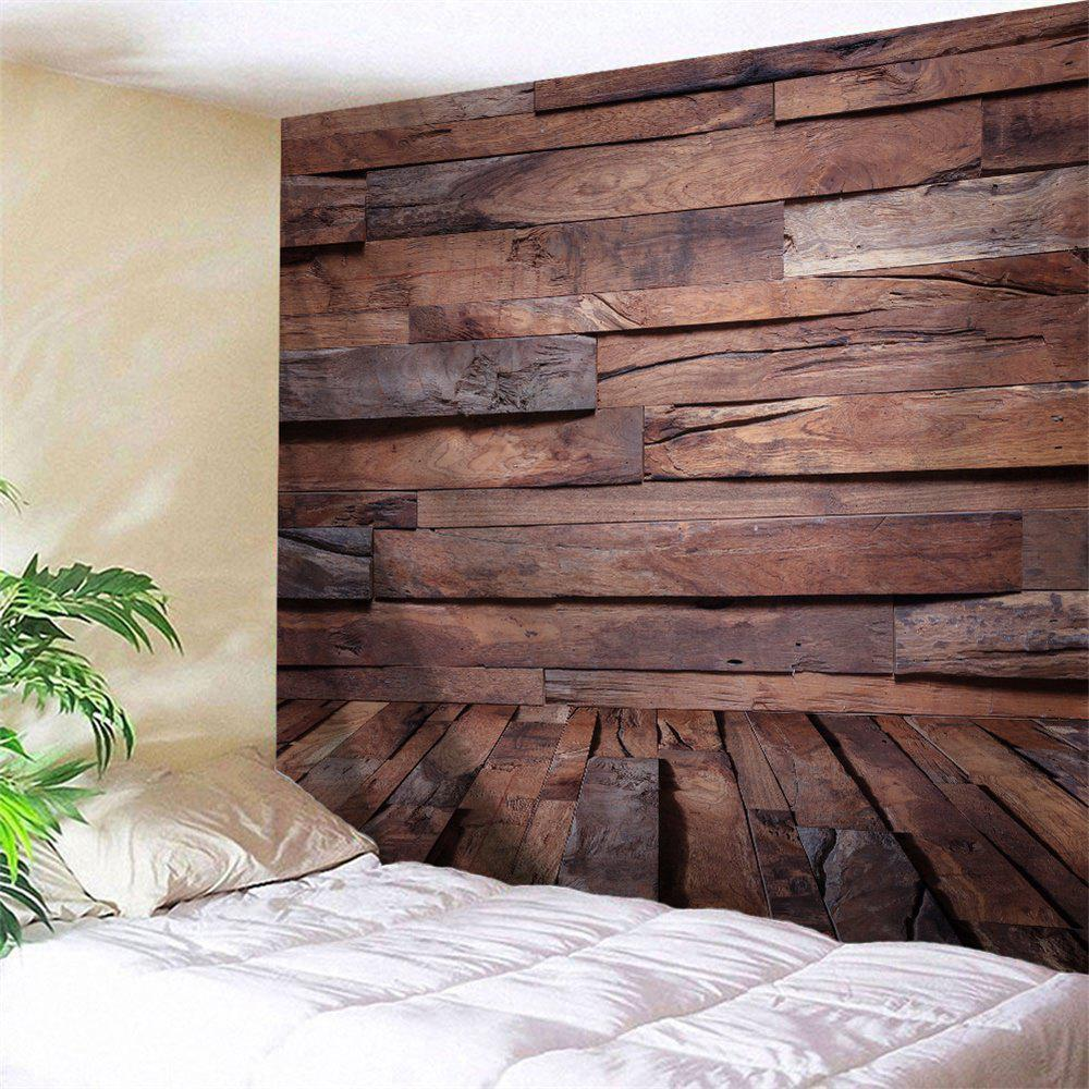 Unique Wall Art Decor Irregular Wood Board Printed Hanging Tapestry
