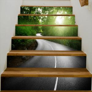 Way In The Forest Pattern Decorative Stair Stickers -