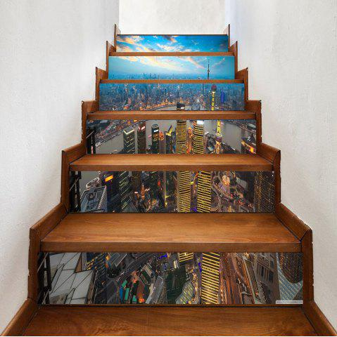 Sale City at Dusk Pattern Stair Stickers