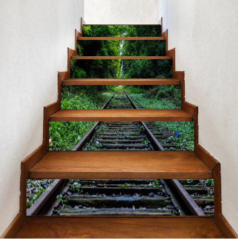 Fashion Rail In The Forest Pattern Decorative Stair Stickers