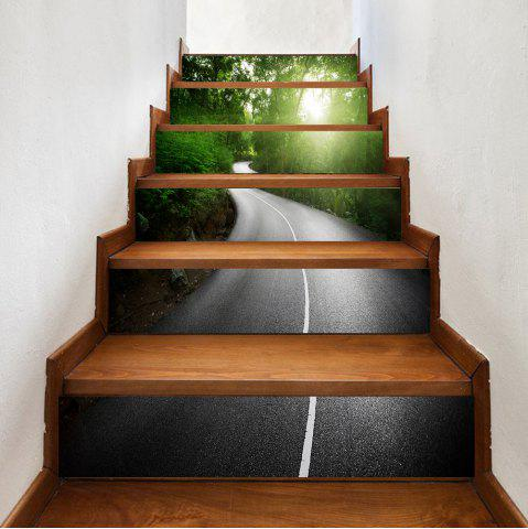 Outfits Way In The Forest Pattern Decorative Stair Stickers