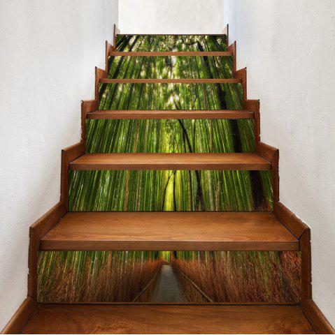 Affordable Bamboo Forest Pattern Decorative Stair Stickers