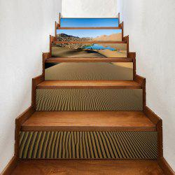 Sand Lake Pattern Decorative Stair Decals -