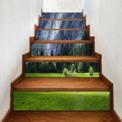 Prairie Pine Trees Cliff Pattern Stair Stickers -