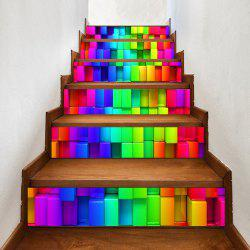 Colorful Uneven Brick Pattern Decorative Stair Stickers -