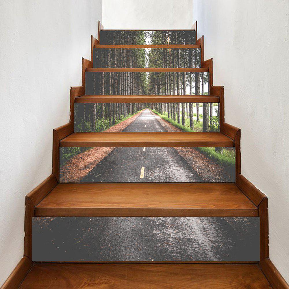 Store Highway In The Forest Pattern Decorative Stair Stickers