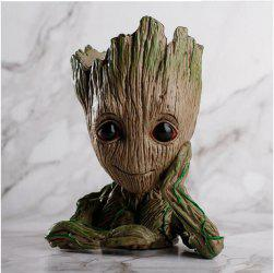 Guardians of The Galaxy Groot Pen Pot Tree Man Pens Container Or Flowerpot with Drainage Hole Perfect for a Tiny Succulents PlantsPot -
