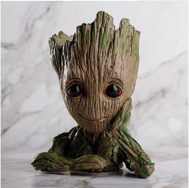 Cheap Guardians of The Galaxy Groot Pen Pot Tree Man Pens Container Or Flowerpot with Drainage Hole Perfect for a Tiny Succulents PlantsPot