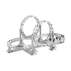 3D Metal Puzzle Roller Coaster Model Educational Toy Gift Ornament -