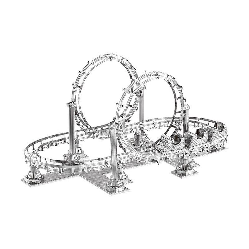 Fancy 3D Metal Puzzle Roller Coaster Model Educational Toy Gift Ornament