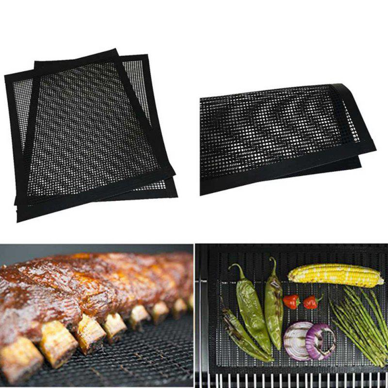 Non-stick Barbecue Mesh Sheet Covered Edge Grill Mat