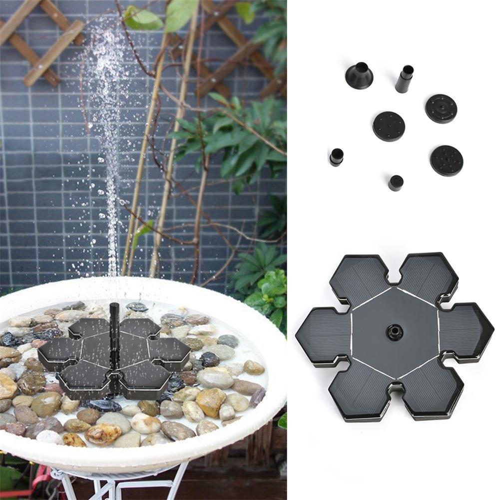 Best Solar Powered Fountain Ice Flower Pump for Pool Garden Decoration
