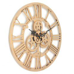 European Vintage DIY Gear Mechanism Wall Clock for Home Decoration -