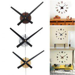 Vintage DIY Gear Mechanism Wall Clock Movement for Home Decoration -