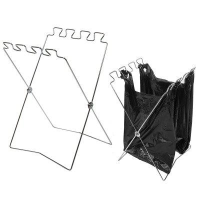 Outfit Outdoor Foldable Trash Bag Holder Stand Portable Storage Rack