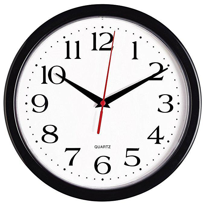 Cheap 12 inch Creative Simple Number Mute Quartz Wall Clock