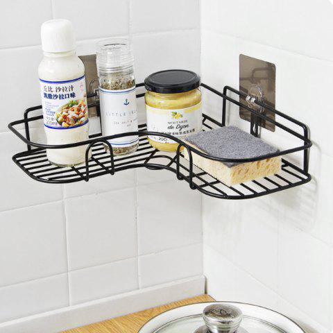 Shop Punch-free Iron Storage Rack Tripod Adhesive Corner Shelf