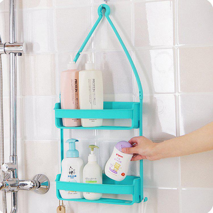 Wall Mounted Hanging Organizer Double Layer Storage Holder Rack