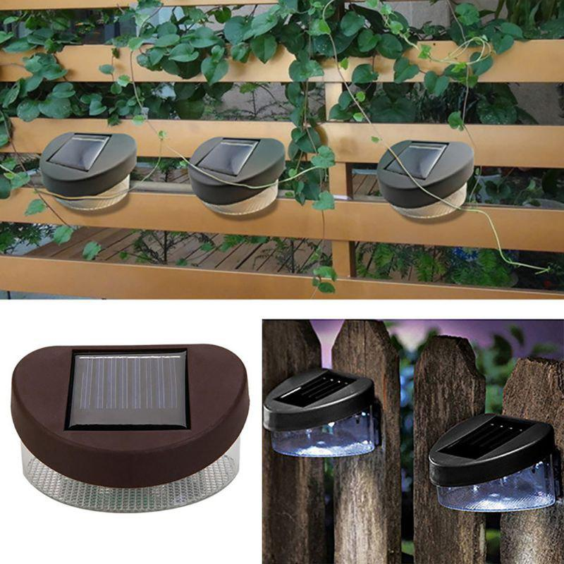 Fashion 2 LED Outdoor Fence Solar Light Wall Lamp for Garden Decoration