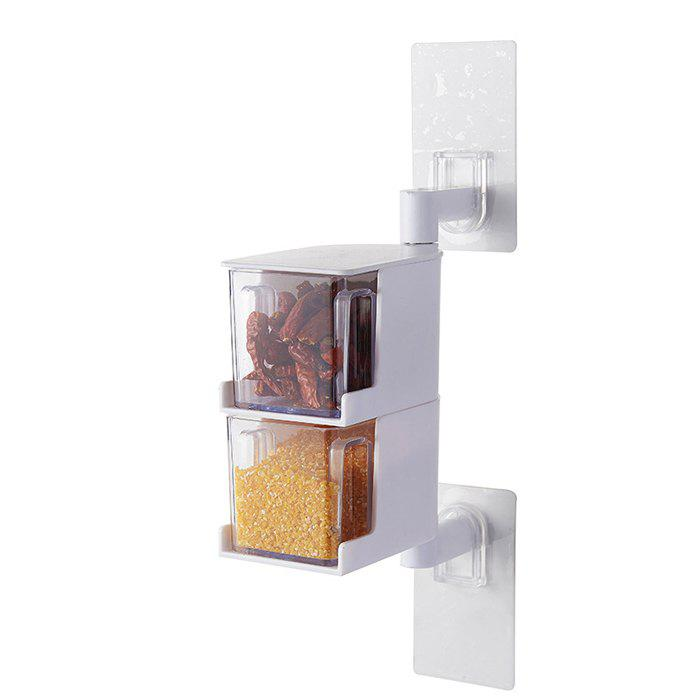 Discount Wall-mounted Rotatable Seasoning Box Multilayer Condiment Case
