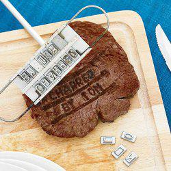 Portable English Letter DIY Barbeque Tool Meat Steak Branding Seal -