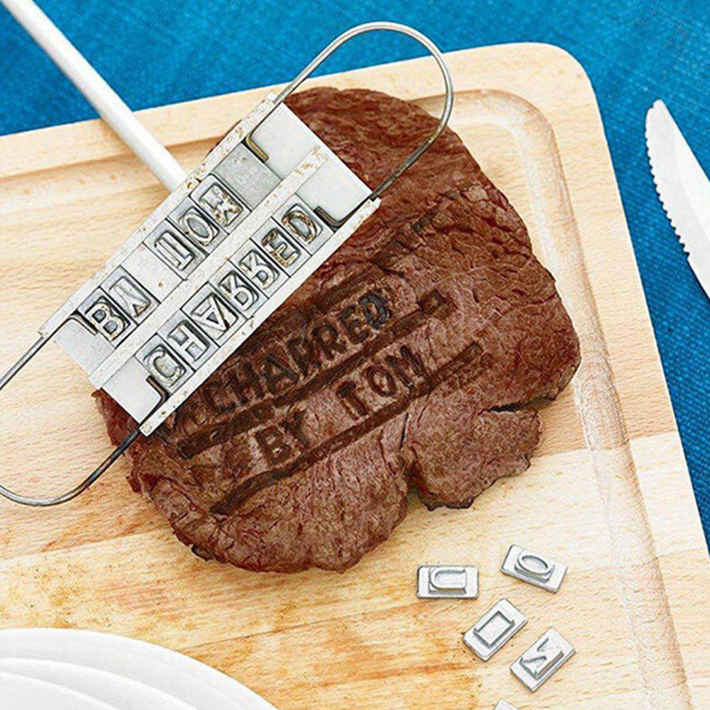 Outfit Portable English Letter DIY Barbeque Tool Meat Steak Branding Seal