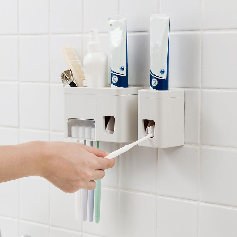 Latest Punch-free Wall Hanging Bathroom Holder Toothpaste Squeeze Rack