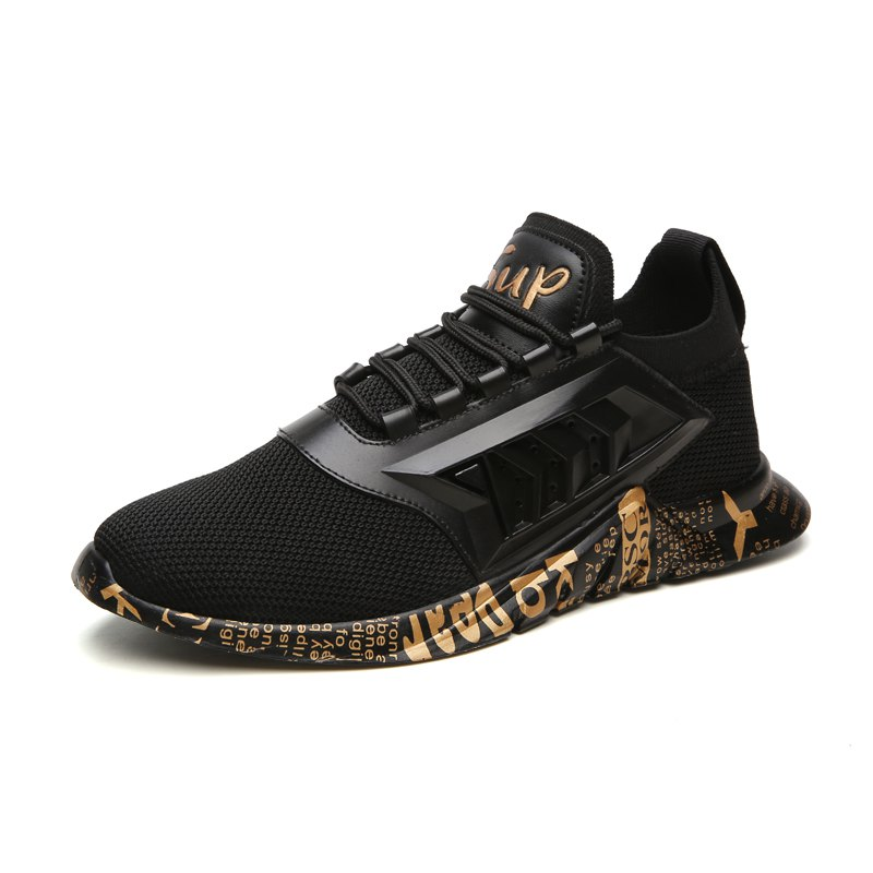 255aa68bc Men's Autumn Winter New Casual Sports Low-top Sneakers - Gold - Eu 44.  rosegal. 11.11 Global shopping festival crazy price: