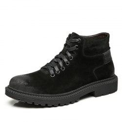 Stylish Solid Color Leather Martin Boots -