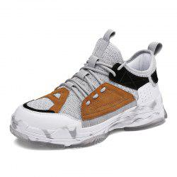Camouflage Trendy High Top Slip-on Ventilate Sneakers for Men -