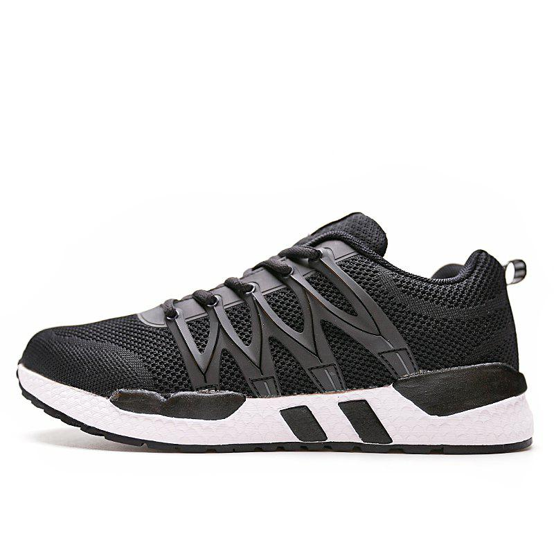 Outfits Men Mesh Fabric Lace Up Casual Sports Shoes Sneakers