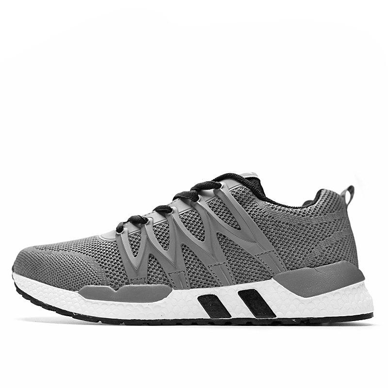 Fancy Men Mesh Fabric Lace Up Casual Sports Shoes Sneakers