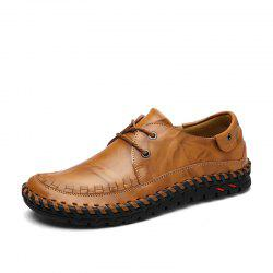 Business Solid Color Leather Casual Shoes -