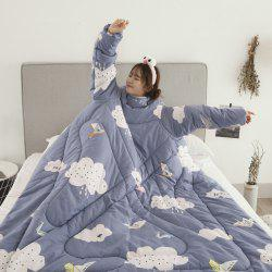 Winter Warm Multi-functional Sofas Anti Kick Quilts with Sleeves -