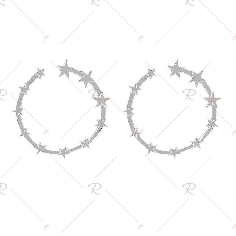 Affordable Women's Trendy Star Hoop Earrings