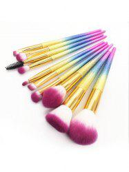 10Pcs 3D Makeup Brushes Set Cosmetic Foundation Powder Blend Eye Shadow Lash Lip Make Up Brush Maquiagem Beauty Tool Kit -