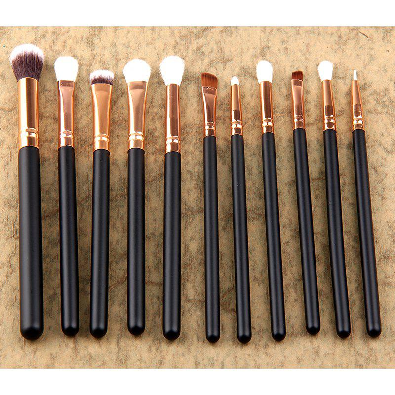 Shops 12Pc Rose gold makeup brushes professional Eye Shadow Foundation Eyebrow oval Brush Cosmetic make up brush set toothbrush