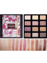 Shimmer Eyeshadow Palette Naked Makeup Waterproof Matte Eye Shadow Glitter Gold Nude 12 Color -