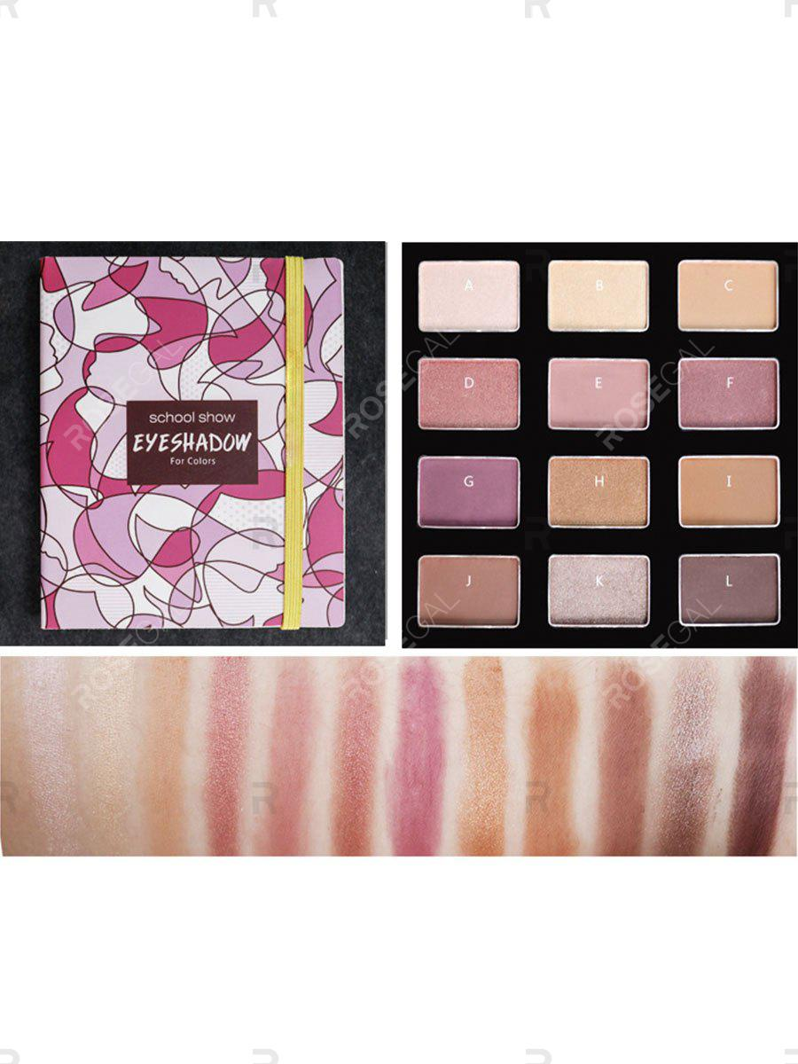 Outfits Shimmer Eyeshadow Palette Naked Makeup Waterproof Matte Eye Shadow Glitter Gold Nude 12 Color