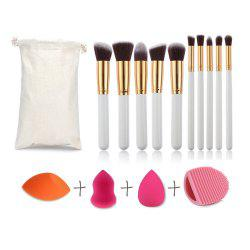 Professional 10 pcs Brand Makeup Brush Pincel Maquiagem Cosmetic Make Up brushes Set With Case Bag Kit and spoon -