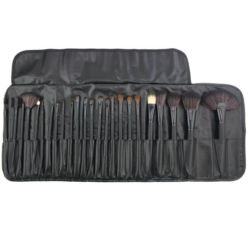 Chic Professional 24 Pcs Makeup Brush Set Tools Make-up Toiletry Kit Wool Brand Make Up Brush Set Case