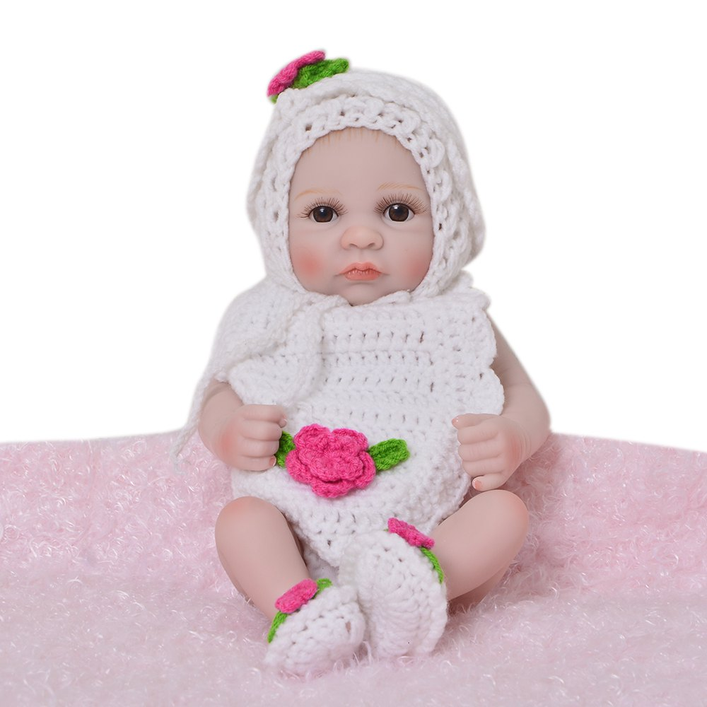 Outfits KEIUMI 10 inch Silicone Simulation Baby Reborn Doll Comfort Toy Gift for Baby