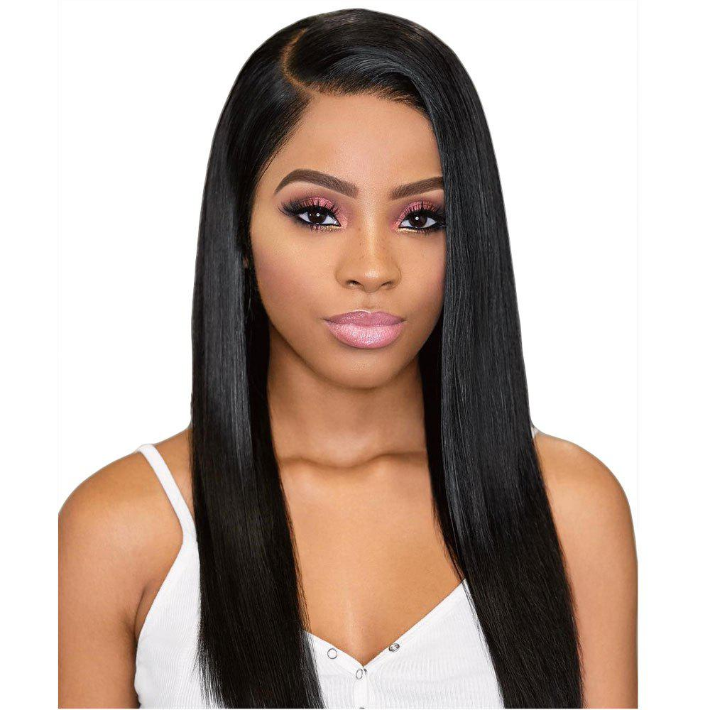 Fashion Orgshine Long Straight Black Color Synthetic Wigs Side Part Wig 24inch