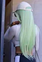 Halloween Ombre Green Synthetic Straight Wig 24 inch -