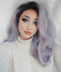 Halloween Ombre Purple Synthetic Wavy Wig 18inch - Виола-фиолетовый 18дюймов