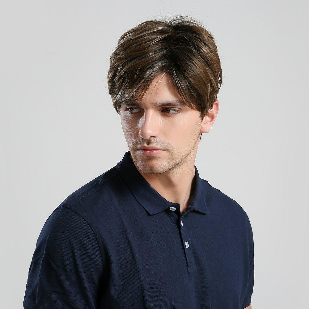 New Fashion Cool Men Short Synthetic Wig for Cosplay Party  (Brown)